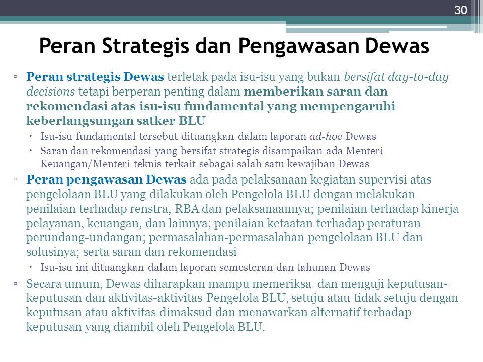 Peran Strategis dan Pengawasan Dewas