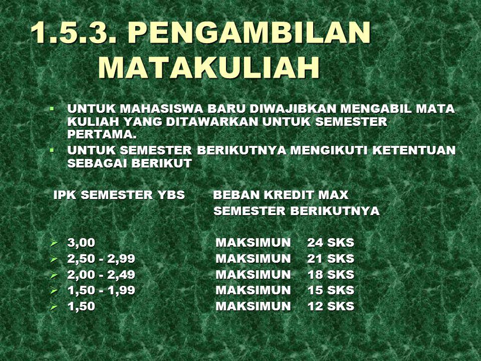 1.5.3. PENGAMBILAN MATAKULIAH