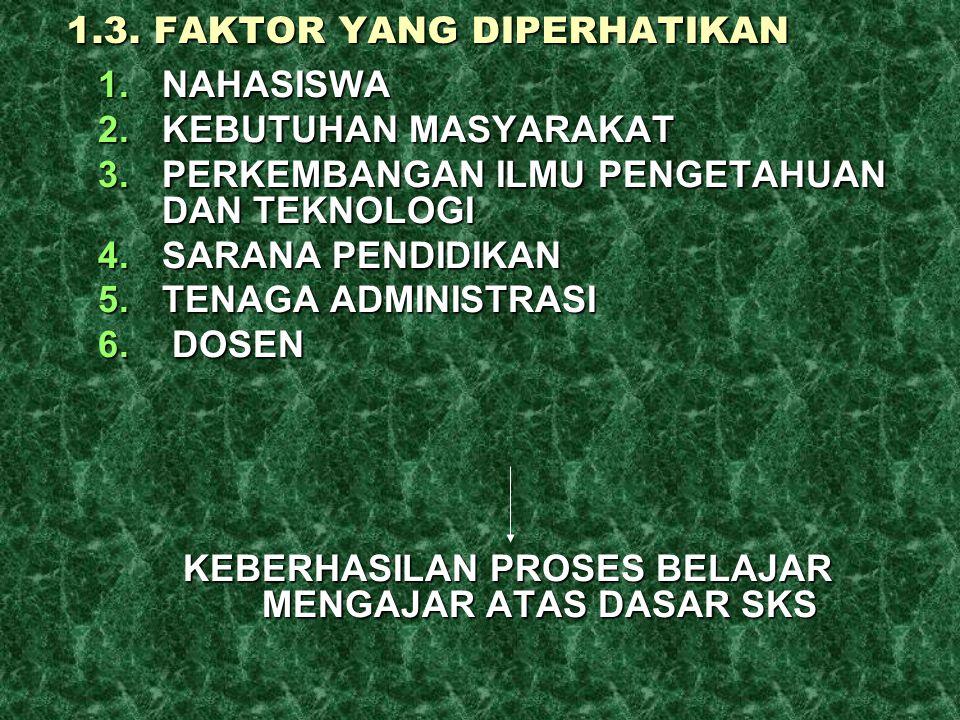 1.3. FAKTOR YANG DIPERHATIKAN