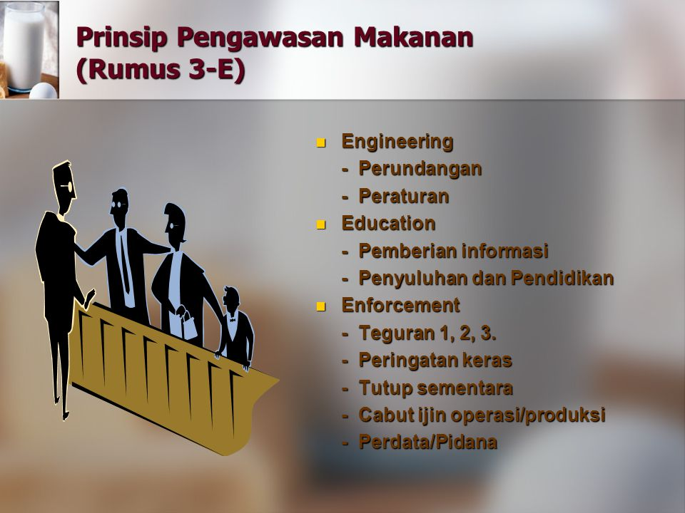 Prinsip Pengawasan Makanan (Rumus 3-E)