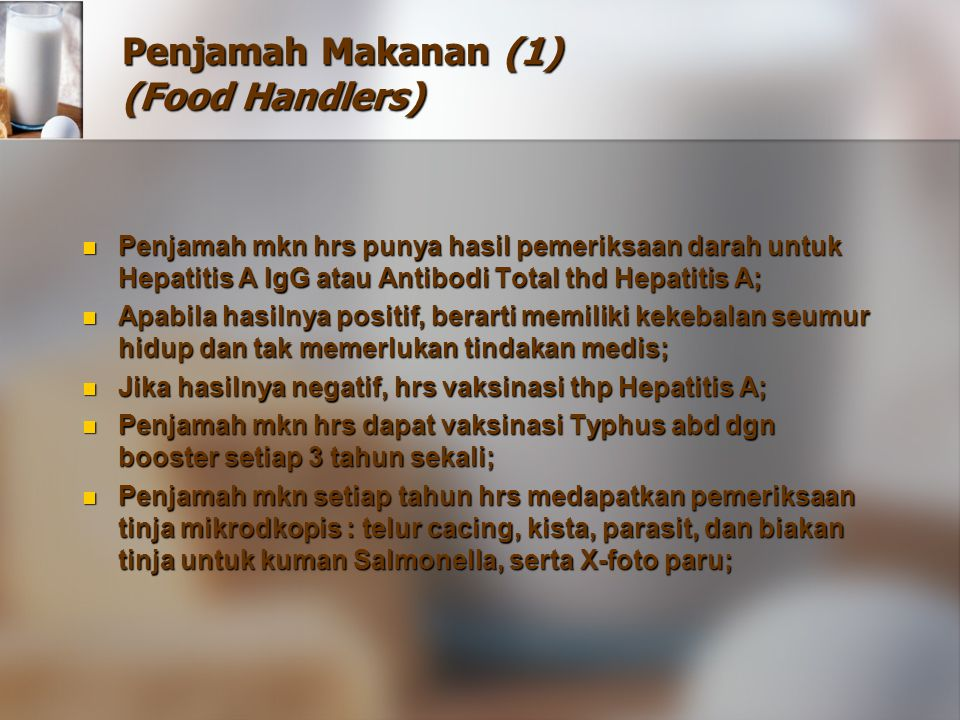 Penjamah Makanan (1) (Food Handlers)