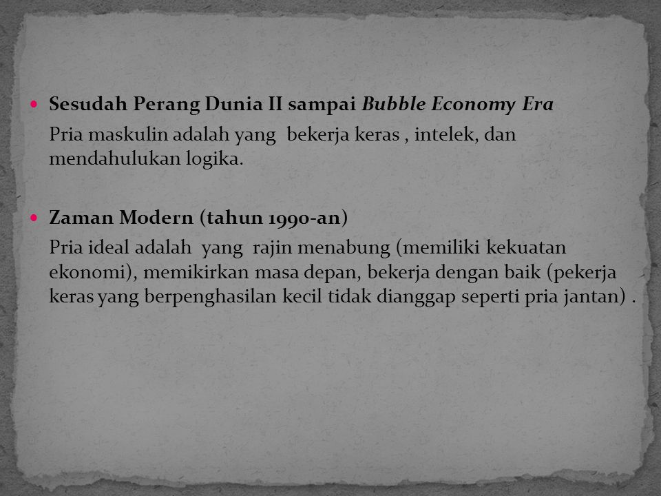 Sesudah Perang Dunia II sampai Bubble Economy Era