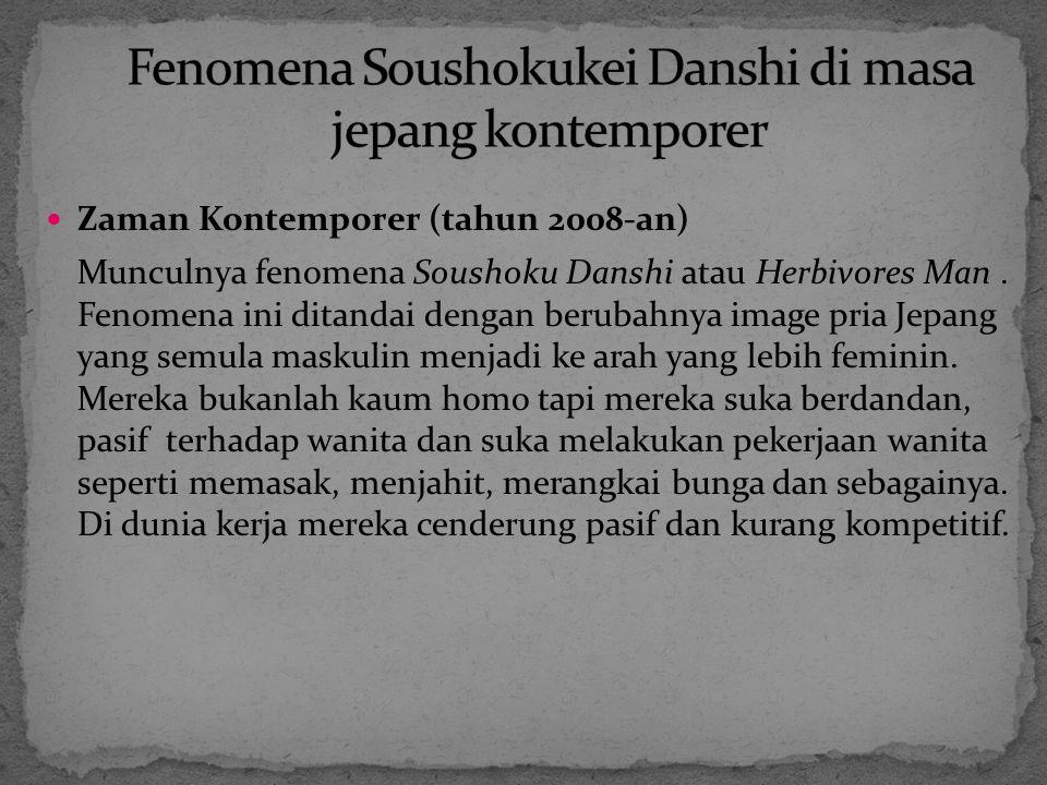 Fenomena Soushokukei Danshi di masa jepang kontemporer