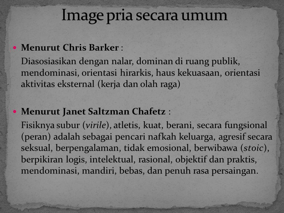 Image pria secara umum Menurut Chris Barker :
