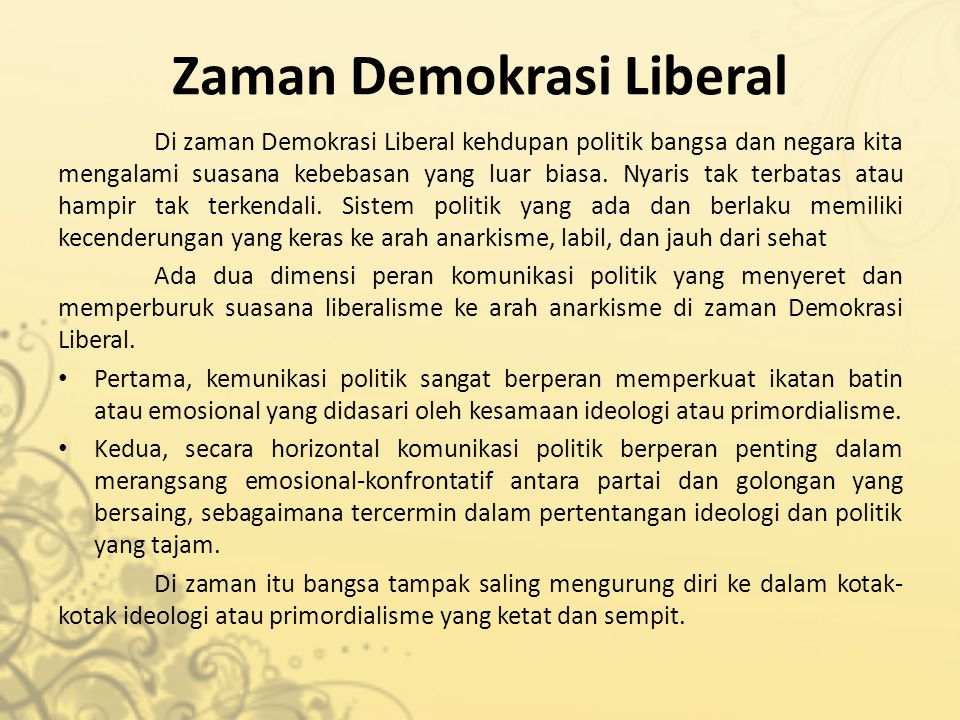 Zaman Demokrasi Liberal