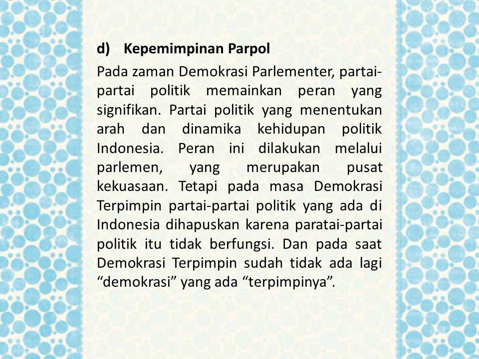 Kepemimpinan Parpol