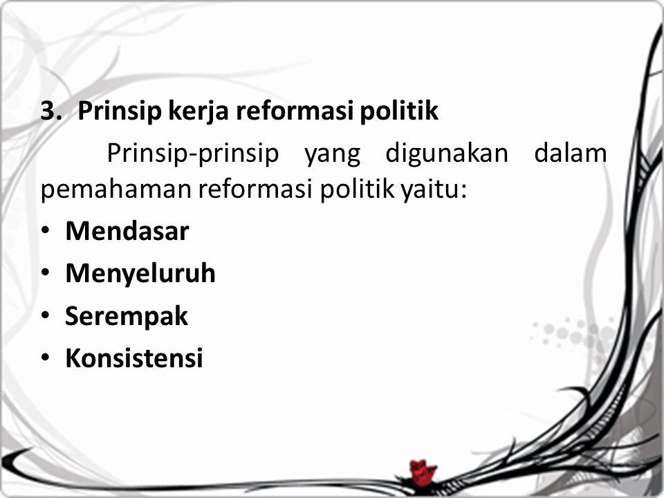 Prinsip kerja reformasi politik