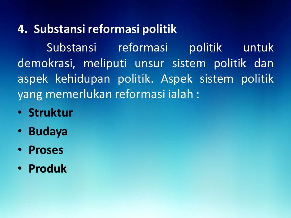 Substansi reformasi politik