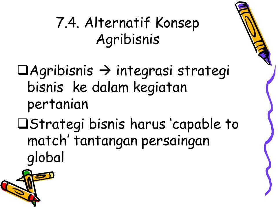 7.4. Alternatif Konsep Agribisnis