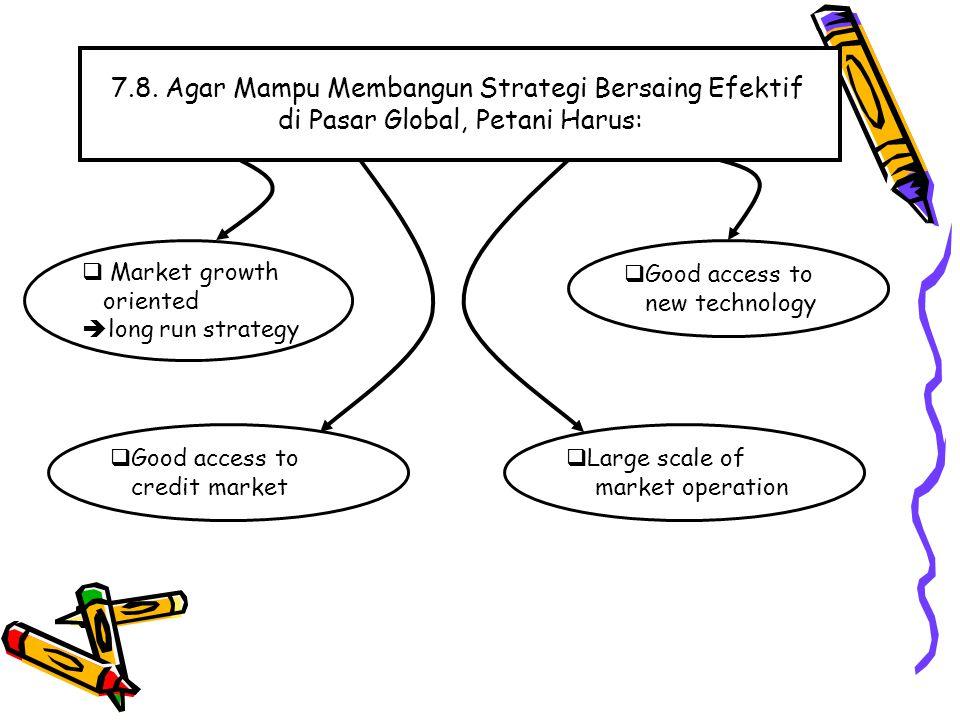 7.8. Agar Mampu Membangun Strategi Bersaing Efektif