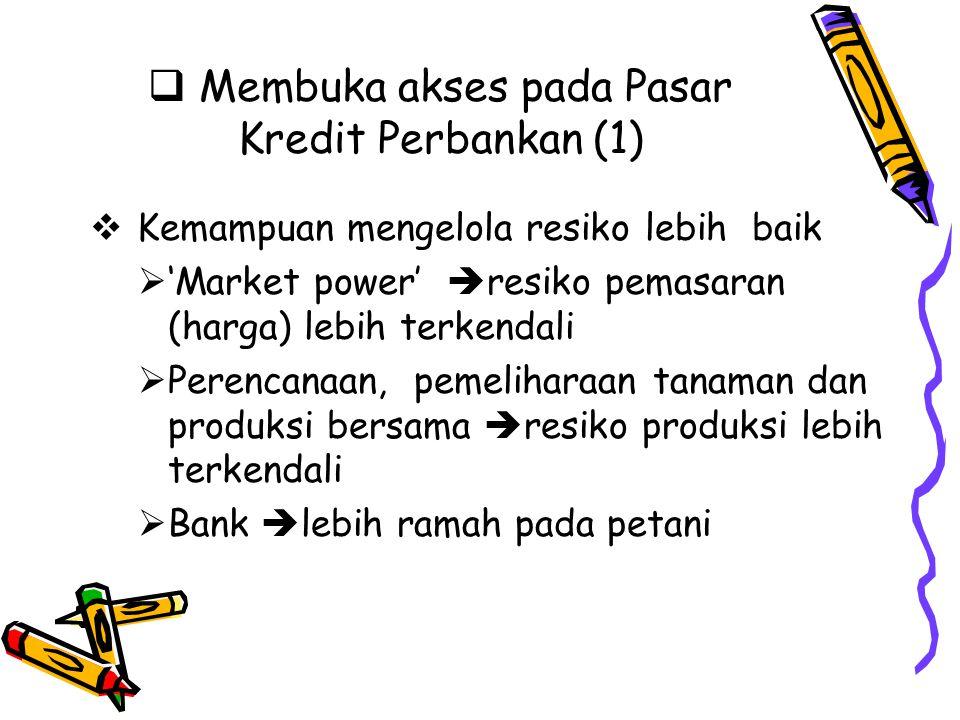 Membuka akses pada Pasar Kredit Perbankan (1)