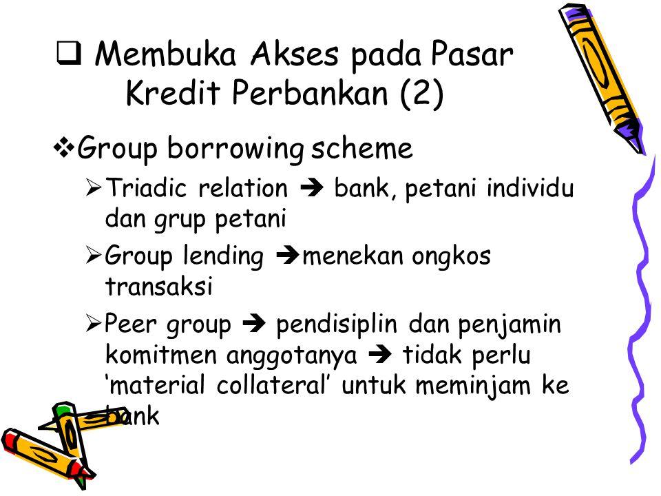 Membuka Akses pada Pasar Kredit Perbankan (2)