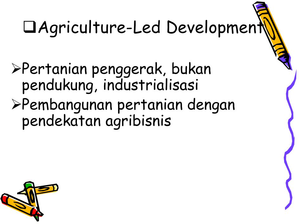 Agriculture-Led Development