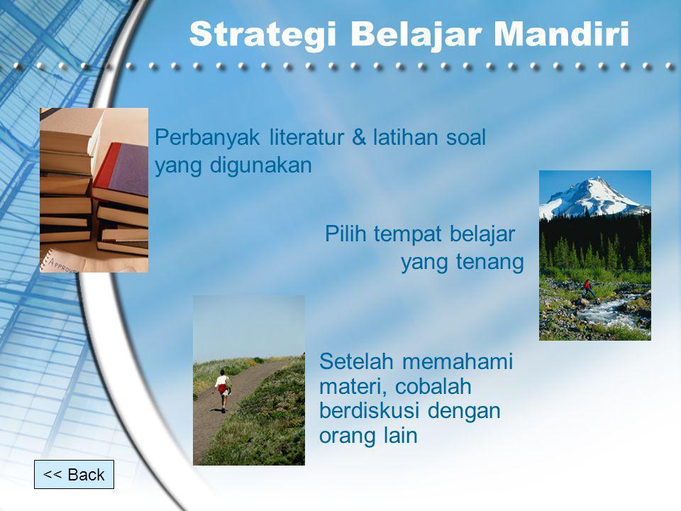 Strategi Belajar Mandiri
