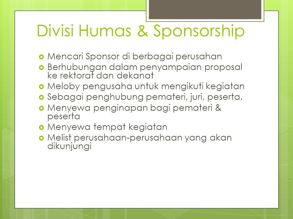 Divisi Humas & Sponsorship