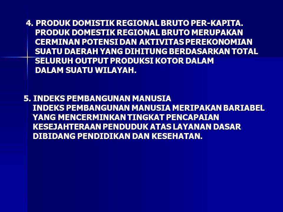 4. PRODUK DOMISTIK REGIONAL BRUTO PER-KAPITA.