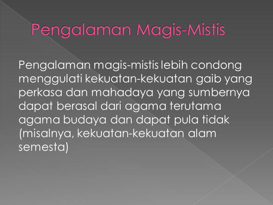 Pengalaman Magis-Mistis