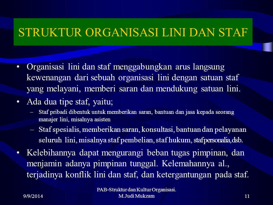STRUKTUR ORGANISASI LINI DAN STAF