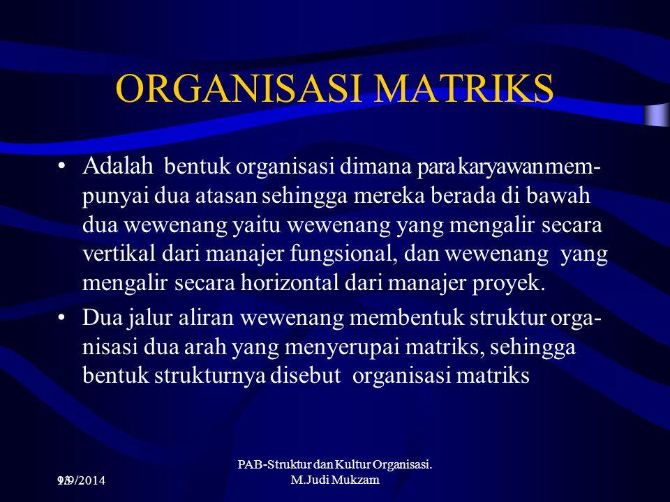 PAB-Struktur dan Kultur Organisasi. M.Judi Mukzam
