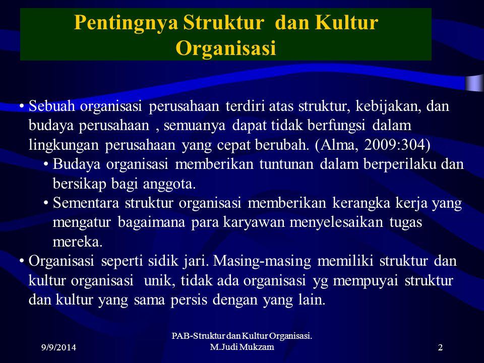 Pentingnya Struktur dan Kultur Organisasi