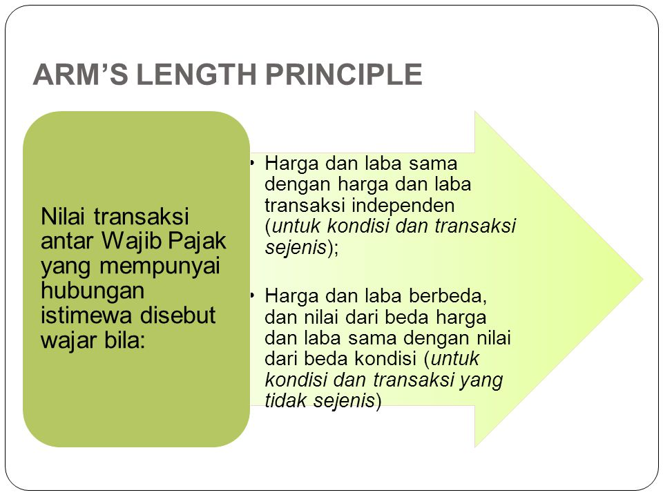 ARM'S LENGTH PRINCIPLE