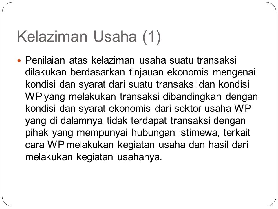 Kelaziman Usaha (1)