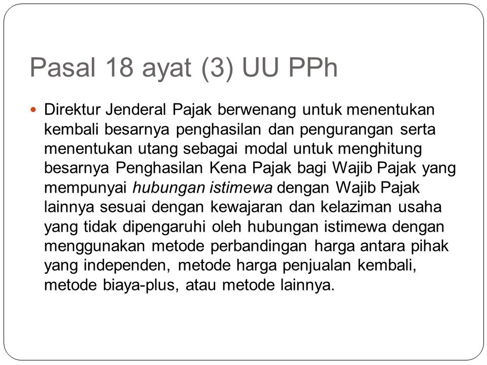 Pasal 18 ayat (3) UU PPh
