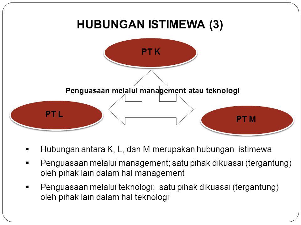Penguasaan melalui management atau teknologi