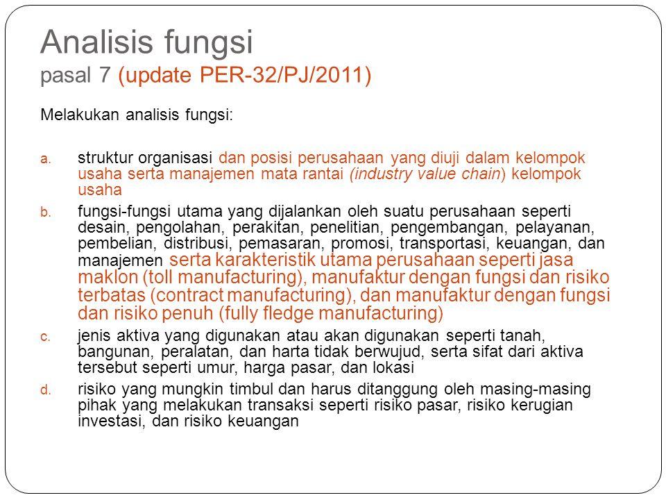 Analisis fungsi pasal 7 (update PER-32/PJ/2011)