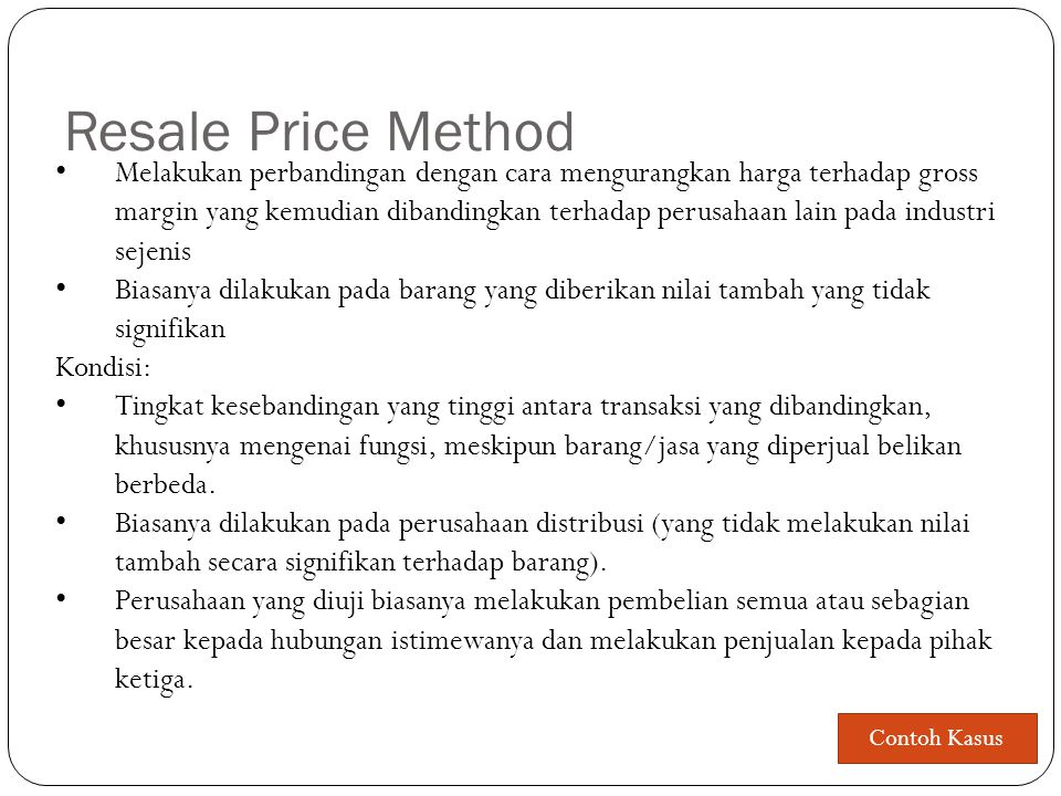Resale Price Method