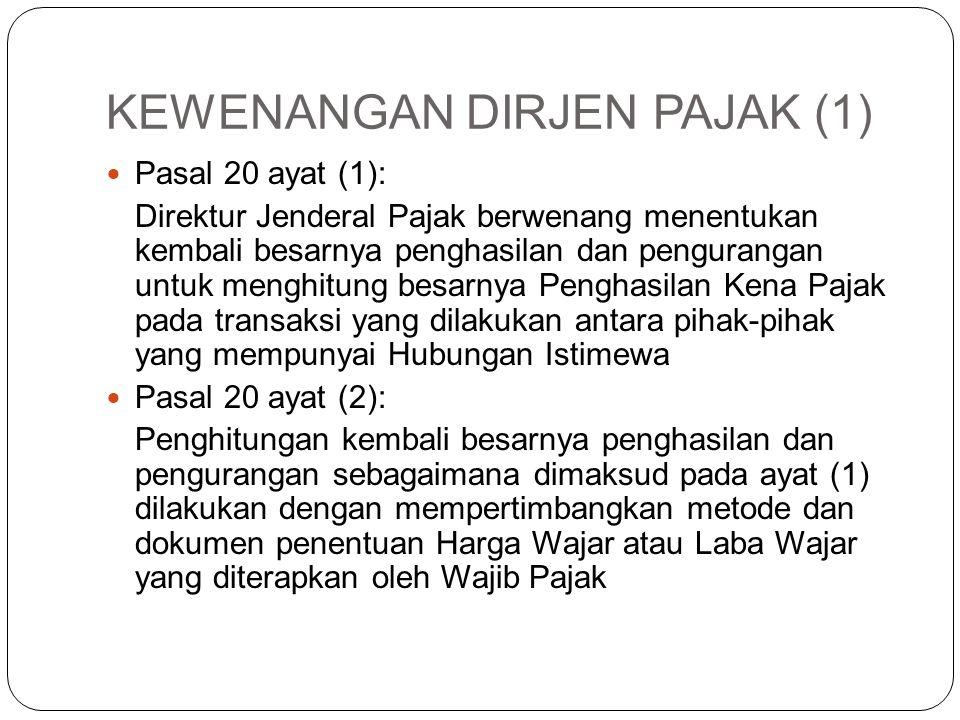 KEWENANGAN DIRJEN PAJAK (1)