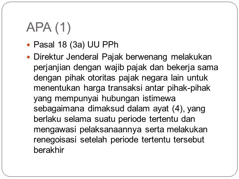 APA (1) Pasal 18 (3a) UU PPh.