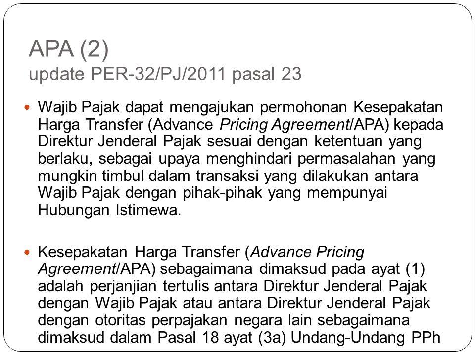 APA (2) update PER-32/PJ/2011 pasal 23