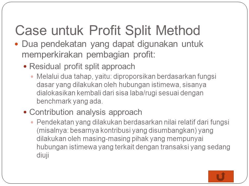 Case untuk Profit Split Method