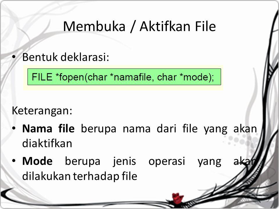 Membuka / Aktifkan File