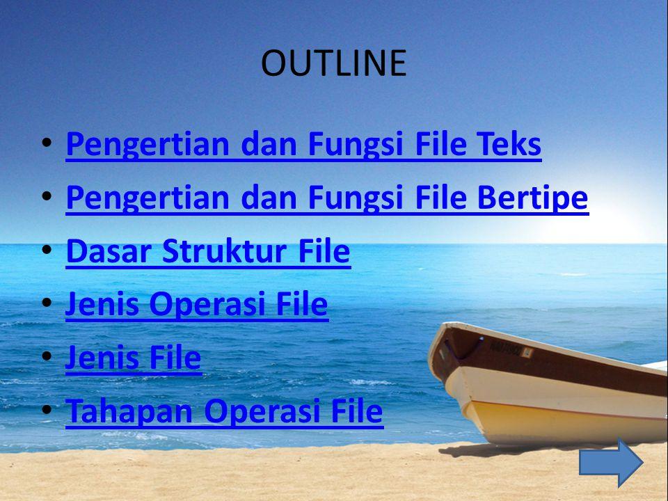 OUTLINE Pengertian dan Fungsi File Teks