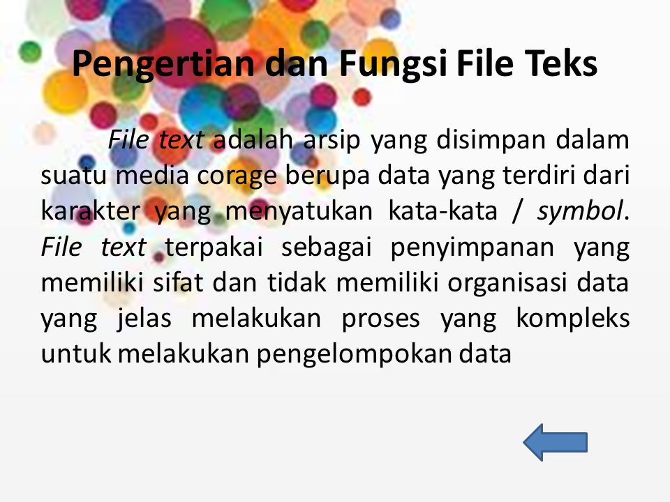 Pengertian dan Fungsi File Teks