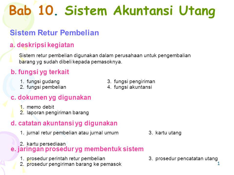 Bab 10. Sistem Akuntansi Utang