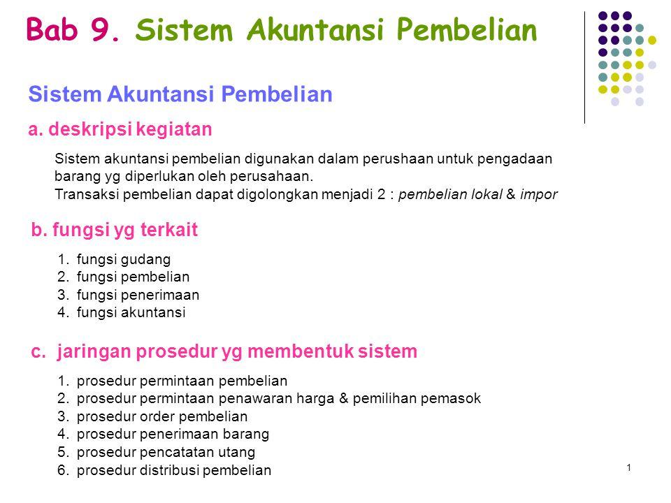 Bab 9. Sistem Akuntansi Pembelian
