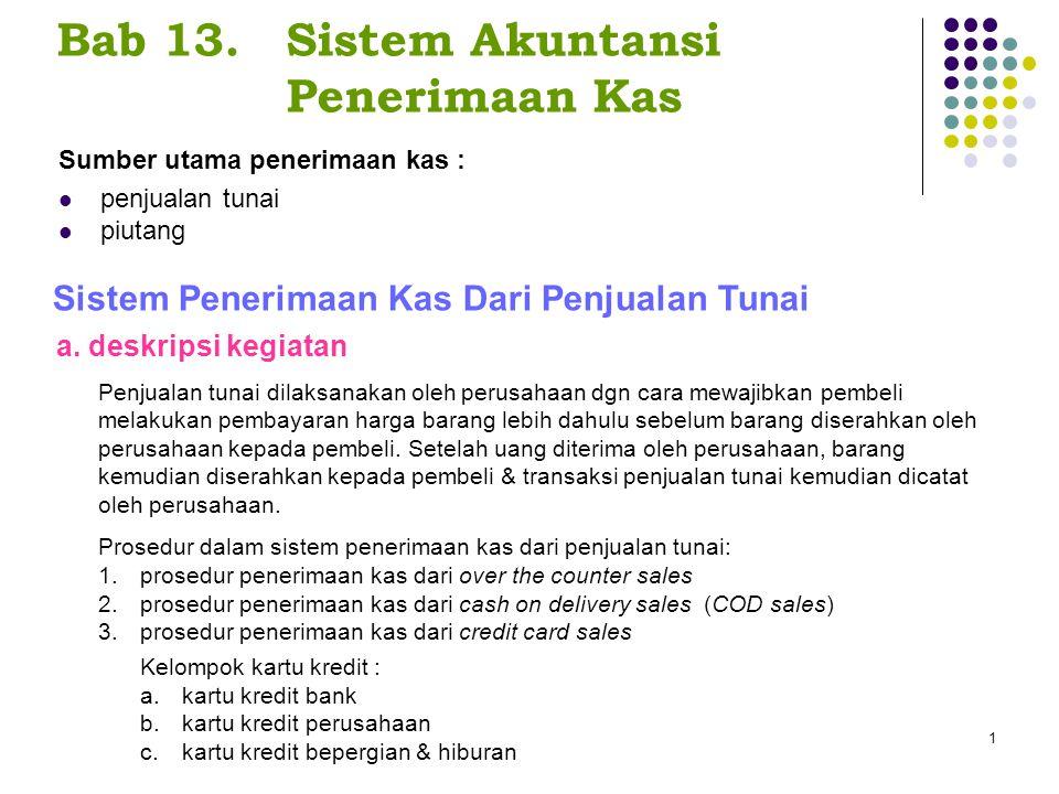 Bab 13. Sistem Akuntansi Penerimaan Kas