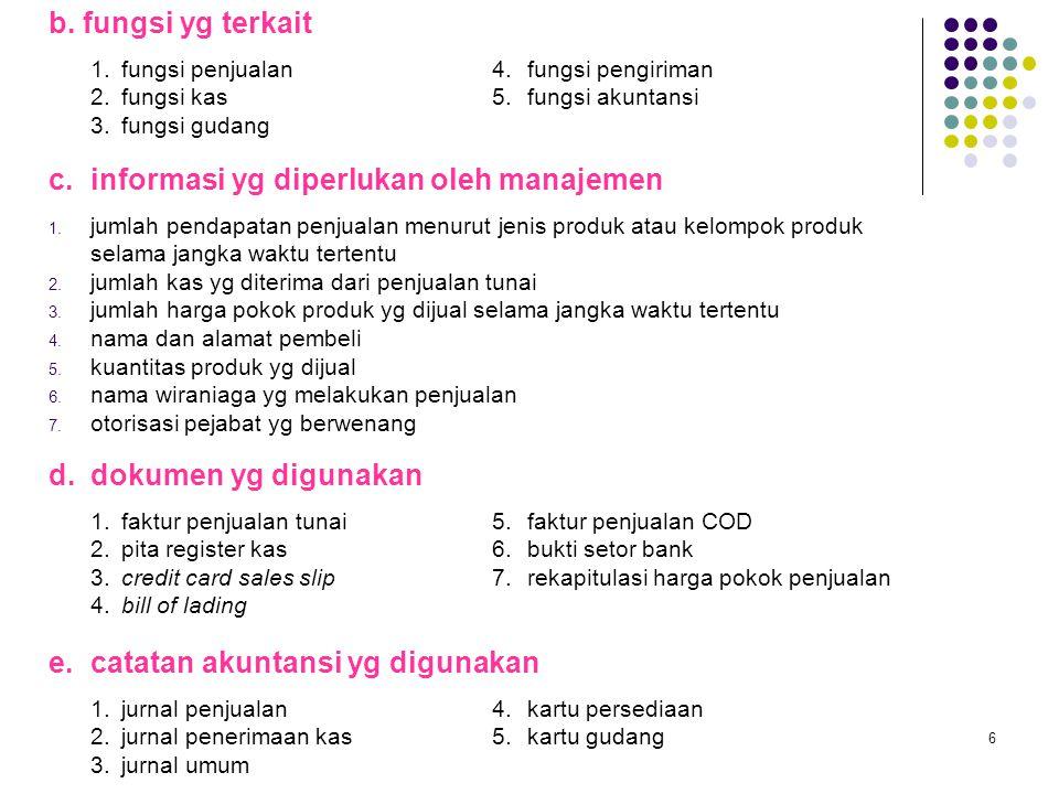 c. informasi yg diperlukan oleh manajemen