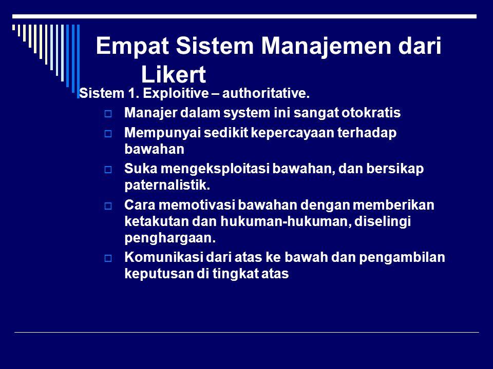 Empat Sistem Manajemen dari Likert