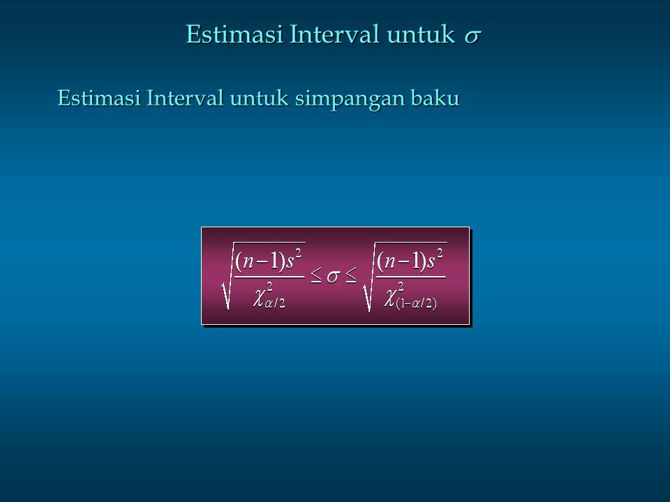 Estimasi Interval untuk 