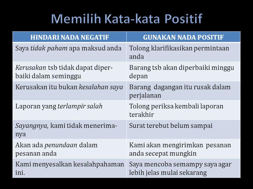 Memilih Kata-kata Positif