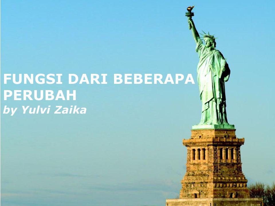 FUNGSI DARI BEBERAPA PERUBAH by Yulvi Zaika