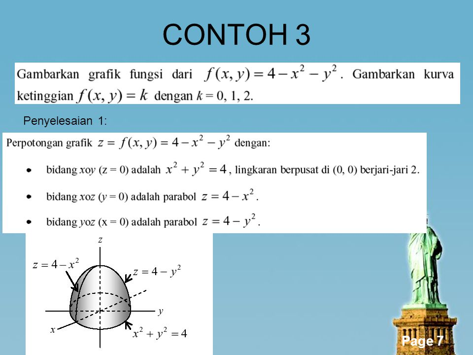 CONTOH 3 Penyelesaian 1: