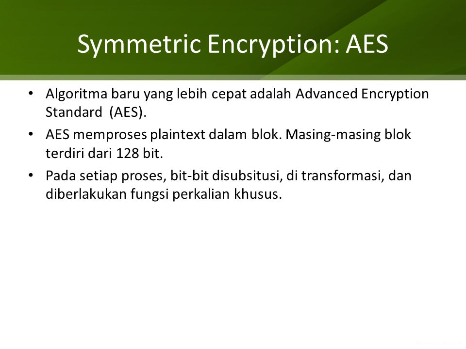 Symmetric Encryption: AES