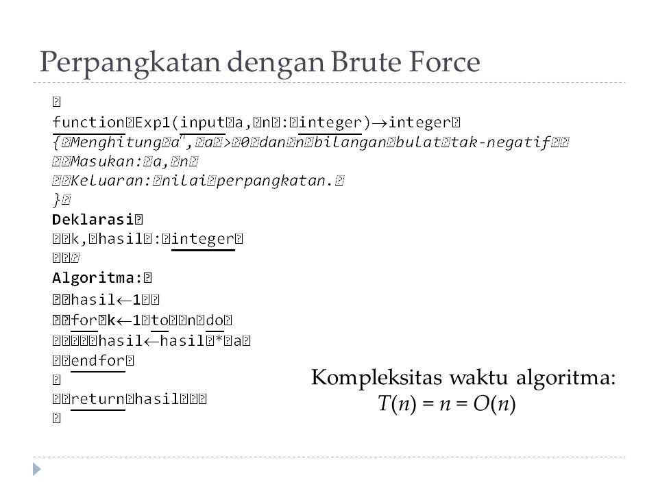 Perpangkatan dengan Brute Force