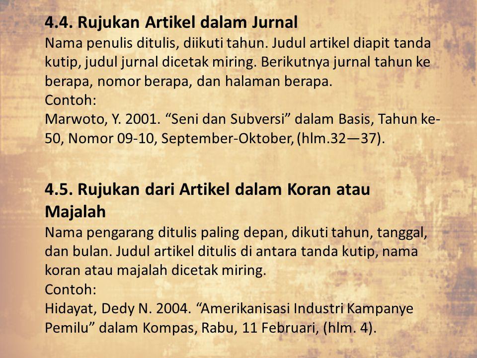 4.4. Rujukan Artikel dalam Jurnal