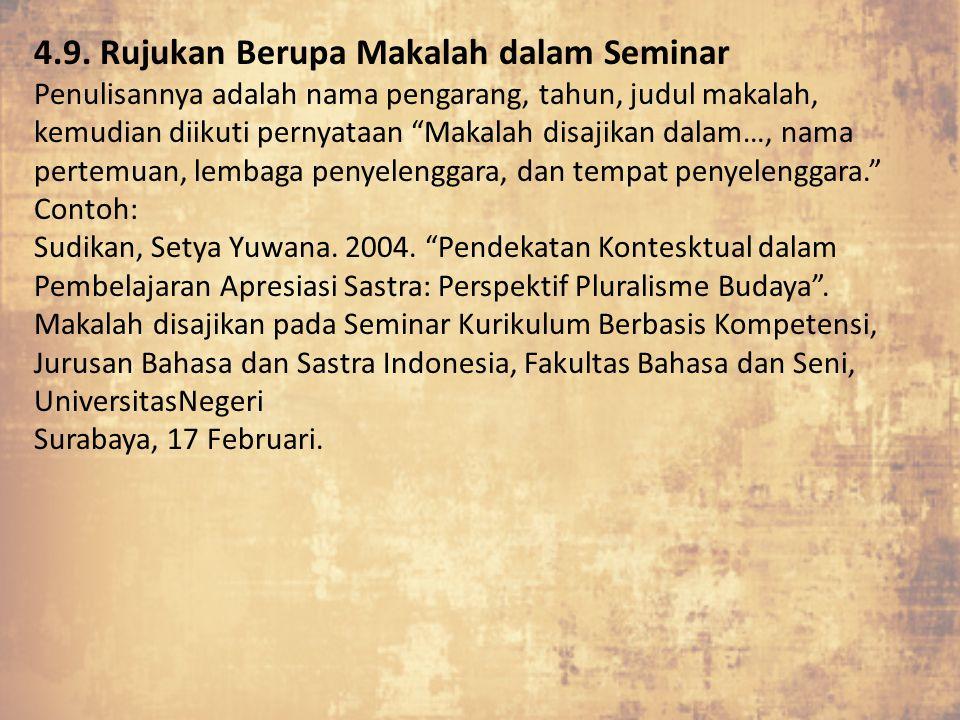 4.9. Rujukan Berupa Makalah dalam Seminar